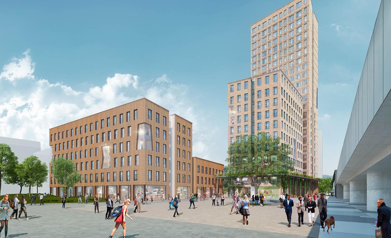 Rendering HoHo Wien und HoHo Next cetus Baudevelopment GmbH und Rüdiger Lainer u Partner Architekten ZT GmbH_KLEIN_Feb 2016