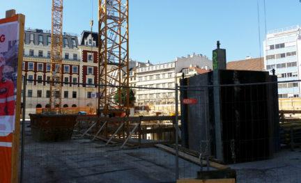 Aktueller Stand der Baustelle