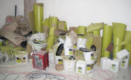 Materialien auf einer Baustelle