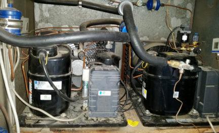 Kompressor mit H/FCKW-Kältemittel und PCB-Kondensator
