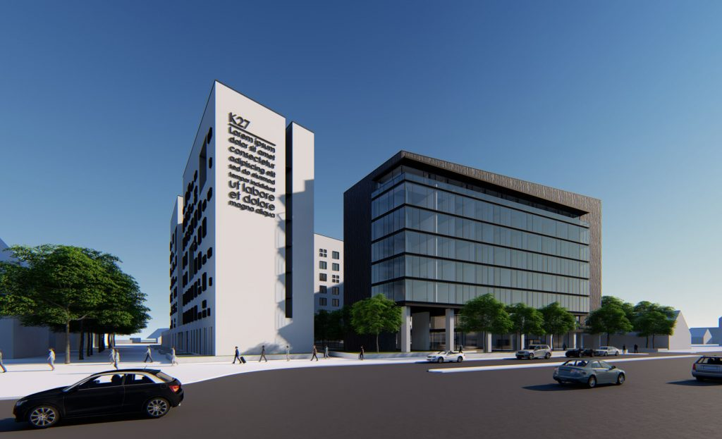 Rendering des K27 Kerepesi Business Center in Budapest
