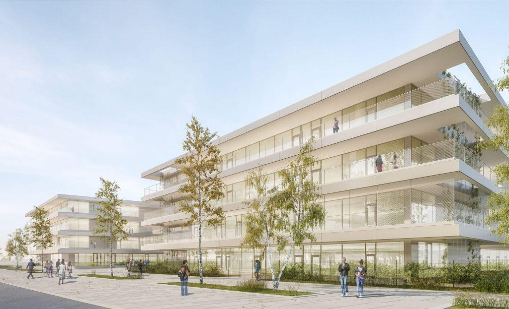 Rendering des Bildungscampus Seestadt-Nord