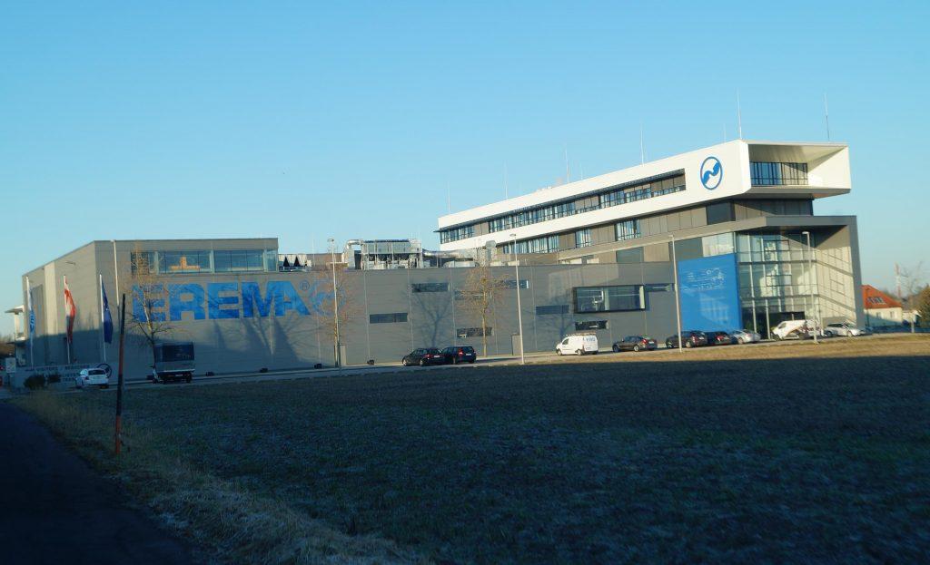 Erema, Abbruch Produktionshallen und Bürogebäude