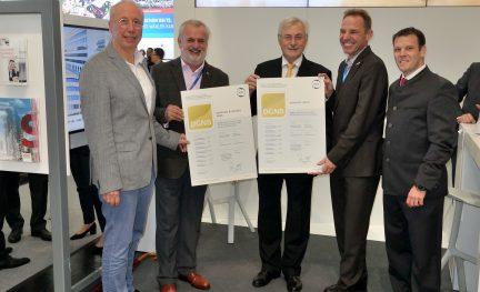 DGNB-Urkundenübergabe auf der EXPO Real
