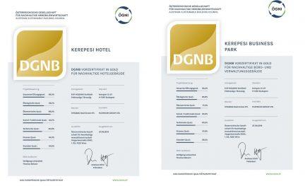 """Vorzertifikate """"Gold"""" für """"Kerepesi Business Center"""" und """"Kerepesi Hotel"""""""