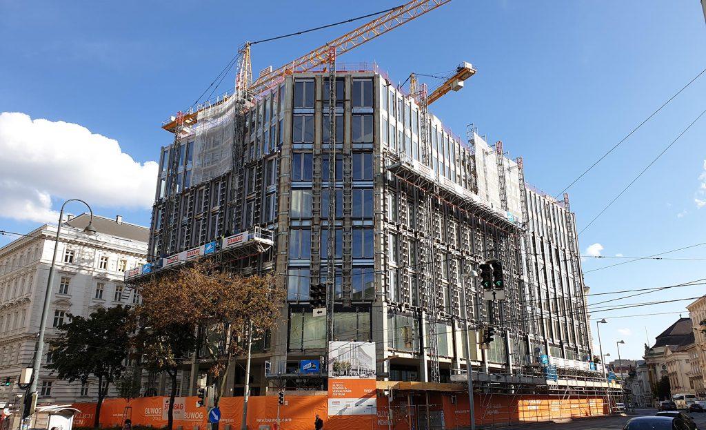 BUWOG-Zentrale - aktueller Baufortschritt Oktober 2019