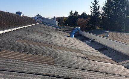 Asbestzement- Dachdeckung