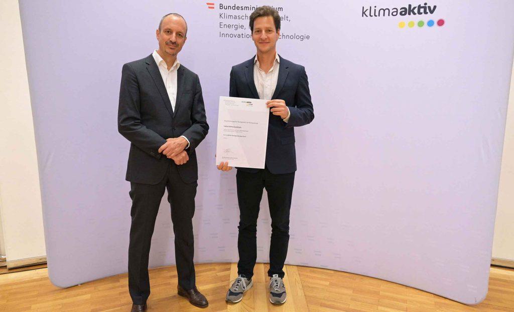Auszeichnung klimaaktiv Kompetenzpartner